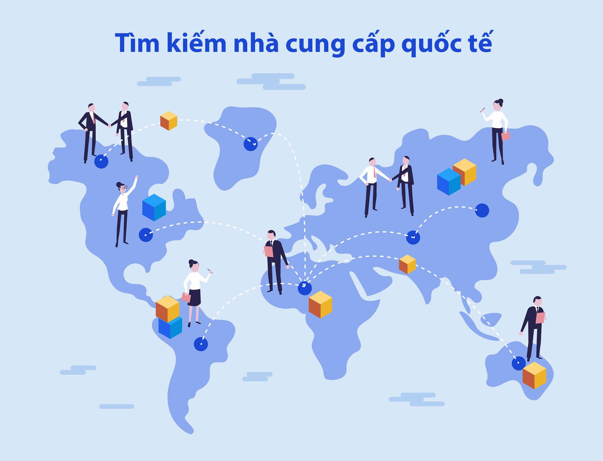 tìm kiếm nhà cung cấp quốc tế